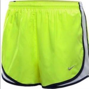 Nike S L neon green running shorts